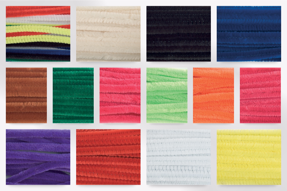 50 pack Trimits ST20 Grey Chenille Jumbo Pipe Cleaners 12mm x 30cm
