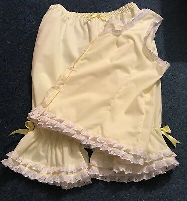 Lemon 3piece Pyjama Type Long Legged Bloomers With Matching Camisole And Shorts Weich Und Leicht