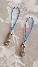 BLUE Keys Charms USB Lanyard Camera Strap Phone Cell Holder Card Mobile MP3 x2