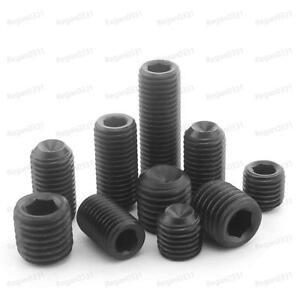 "Socket SET // GRUB SCREWS Cup Point Qty 20 Black Alloy Steel #6-32 x 1//8/"""