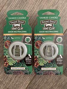 Yankee Candle Car Vent Clip 2pack - Balsam & Cedar | eBay