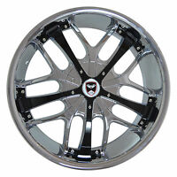 4 Gwg Wheels 20 Inch Chrome Black Savanti Rims Fits Et35 Honda Civic Si 2006-15