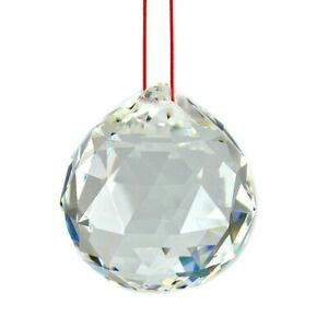 FENG-SHUI-HANGING-CRYSTAL-BALL-Clear-Faceted-Sphere-Sun-Catcher-Rainbow-Prism