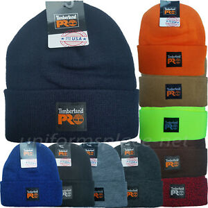 Details about Timberland Pro Beanie Unisex Mens Cuffed Beanie Stretchable rib knit Watch Cap