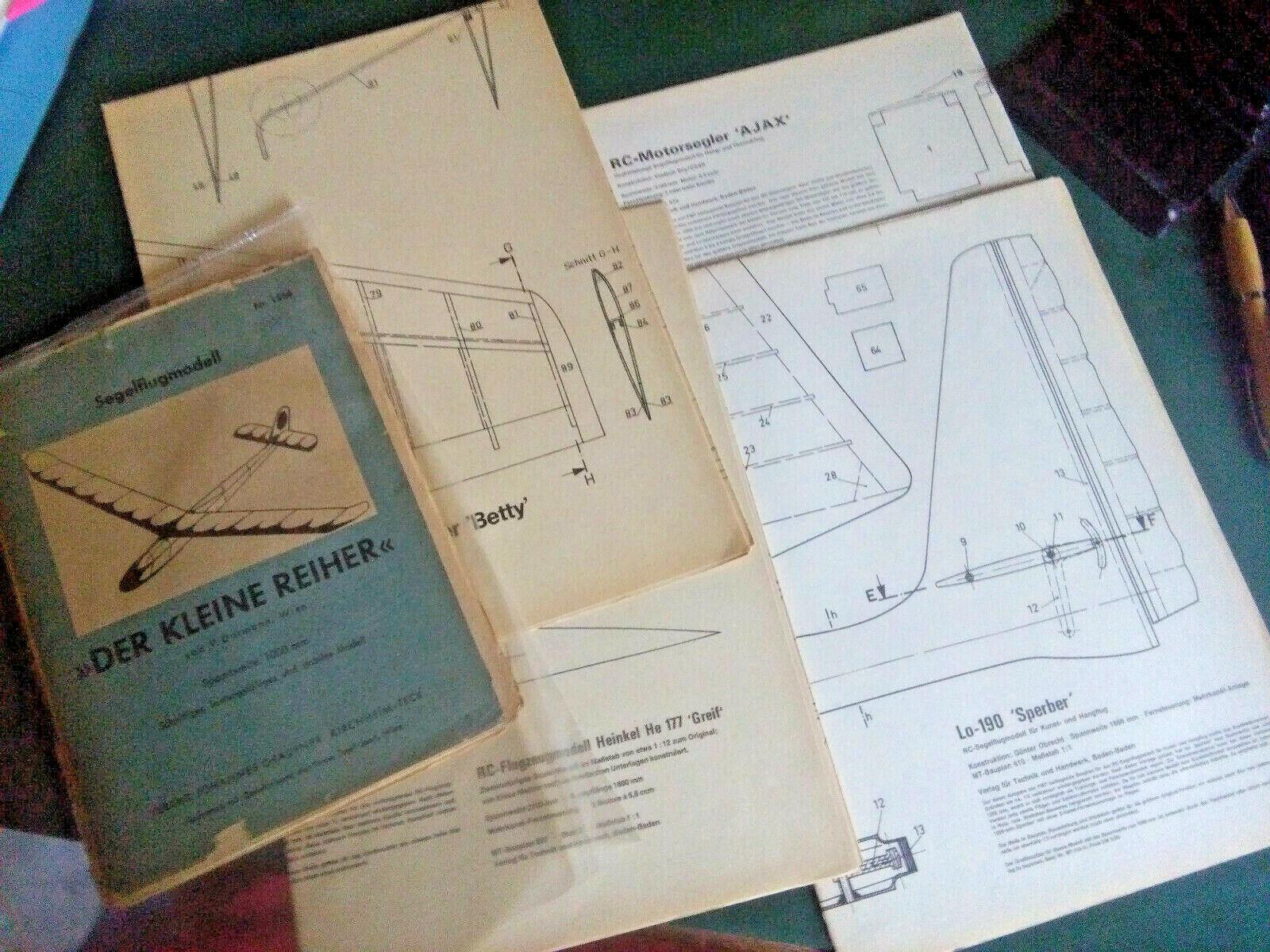 Modélisme  RC-Flugmodelle, brochures, catalogues, dépliants - 50-70er ans
