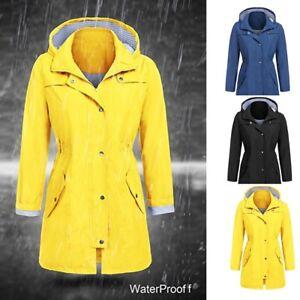 e7f8e6d54 Image is loading Womens-Rain-Waterproof-Jacket-Ladies-Hooded-Coats-Raincoat-