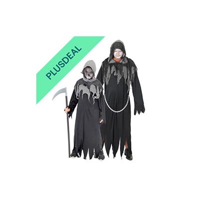 Sensenmann Horror Kostüm für Kinder und Herren Halloween Tod Gr. 122-170, M-XXXL