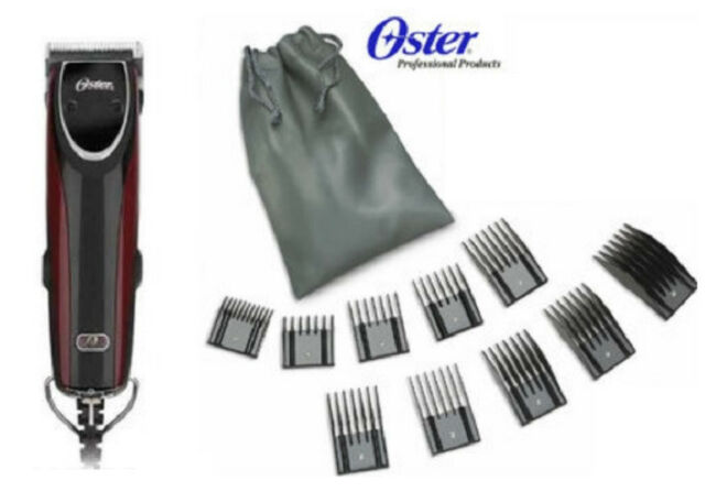 New Oster 76 Turbo 2-Speed Outlaw Dual Speed Clipper + 10 Piece Comb Guide Set