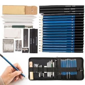 40X-Set-Disegno-disegno-matita-carboncino-Pittura-arte-Disegnare-Sketch-Artisti-KIT