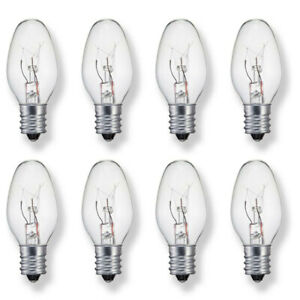 Sansai 8pk 7W/240V E14 Replacement Bulb Clear for Night Light/Lamps