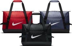 a2e02c9f00713 Nike Academy Team Football Duffel Bag Small Medium S M Black Red ...