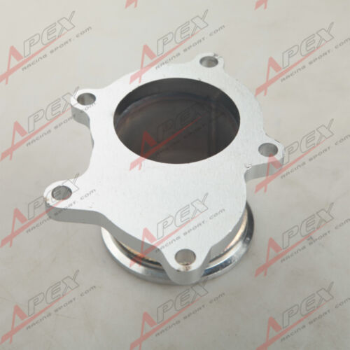 "T3//T4 Turbo 5 Bolt Exhaust Turbo Down Pipe Flange To 2.5/"" 63mm V band Adapter"