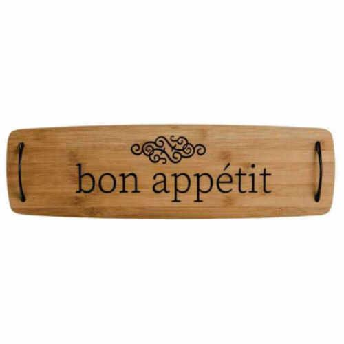 "Bon Appetit Boston Warehouse 24/"" Bamboo Charcuterie Board"