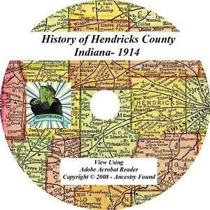 1914 History & Genealogy of HENDRICKS County Indiana IN | eBay