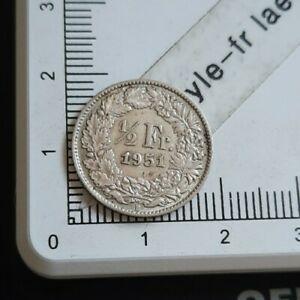 I08408-demi-franc-suisse-1951-piece-de-monnaie-argent-silver-coin