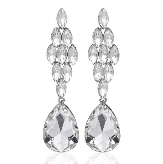 e9f6913acf409 Sexy Marquise Drop Crystal Rhinestone Chandelier Dangle Earrings Studs H38  White | eBay