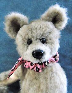 9-034-Artist-made-Small-Faux-Fur-Teddy-Bear-034-SAWYER-034-by-Beth-Diane-Hogan-OOAK