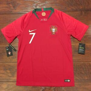 2018 Portugal Home Jersey  7 Ronaldo Medium Nike Soccer World Cup ... cc51904f1