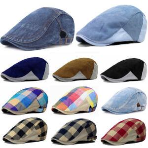 Men-039-s-Plaids-en-bec-de-canard-Newsboy-Gatsby-Chapeau-Golf-Conduite-Chauffeur-beret-Ivy-Chapeaux