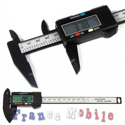 Pied à Coulisse Jauge Digital Max 150 mm Materiel Pro Plastique Caliper Measure