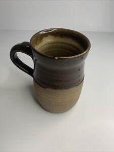 Handmade Pottery Coffee Mug, Beautiful Pattern, Signed.
