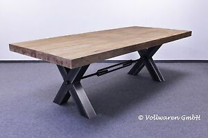 teak esstafel esstisch bronx 250x110 teakholz antik massiv industriedesign tisch ebay. Black Bedroom Furniture Sets. Home Design Ideas