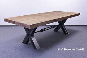 Teak esstafel esstisch bronx 250x110 teakholz antik massiv for Esszimmertisch industriedesign