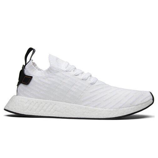 Size 8.5 - adidas NMD R2 Primeknit White Black 2017 for sale online   eBay