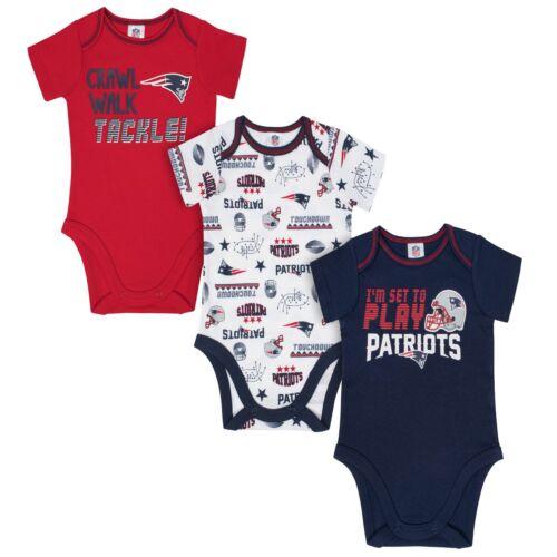 Neuf England Patriots Body Bébé 3 Pk - Gerber NFL Nouveau-Né 3-6m
