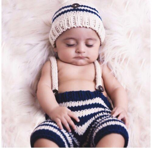 Newborn Photo Prop 0-3 months Hats Baby Gray Hand Knit Hat Newborn Boy Photo Prop