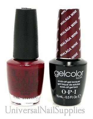 "Opi Soak-Off GelColor Gel Polish + Nail Polish ""Malaga Wine #GC L87"" .5 oz"