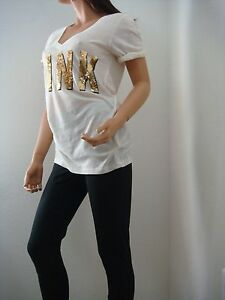 Victoria amp; Sequin Tee Secret Leggings M Shirt Pink X2 Black Top Fashion Bling OqCwStd