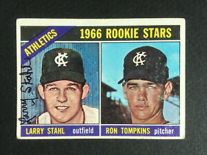 Larry-Stahl-Athletics-signed-1966-Topps-rookie-baseball-card-107-Auto-Autograph
