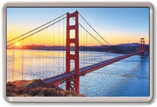 FRIDGE MAGNET - GOLDEN GATE BRIDGE - Large Jumbo - USA San Francisco