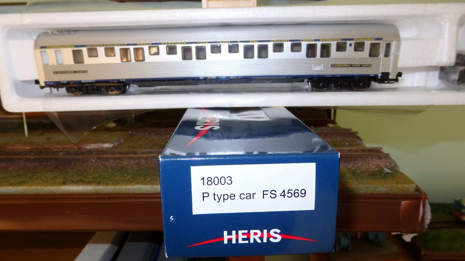 HERIS 18003 carriage beds Type P CIWL Stainless, management FS, Bellows bellows
