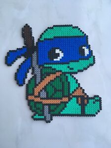Détails Sur Pixel Art Perles A Repasser Tortue Ninja Leonardo