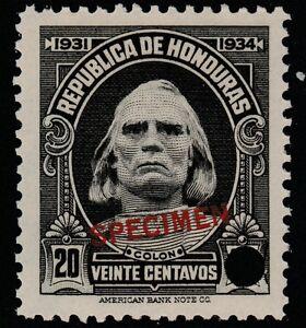 Honduras-1380-1931-Columbus-20c-File-Copy-muestra-desmontado-como-nuevos
