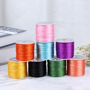1 x 6M ROLL 0.8mm GREEN STRONG STRETCH ELASTIC CRYSTAL THREAD CRAFT JEWELLERY
