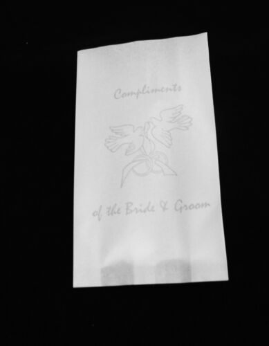 silver dove wedding engagement bridal white paper cake bags 100 pack birthday