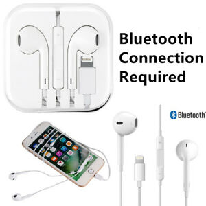 Lightning-Connector-Wired-Bluetooth-Earphone-Headset-For-iPhone-w-Microphone-Lot