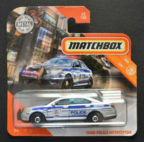 Matchbox 2020 ford police interceptor MBX City nuevo embalaje original /&