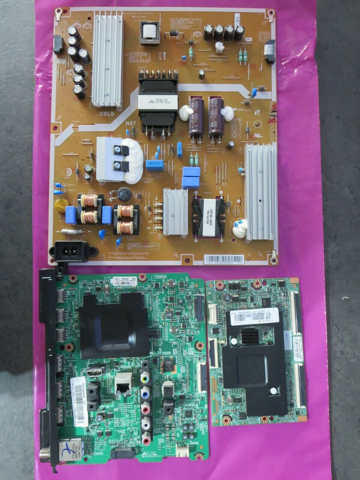 Samsung UN55J6201AFXZA Complete TV Repair Parts Kit w//LED Backlight Strips Version QS01