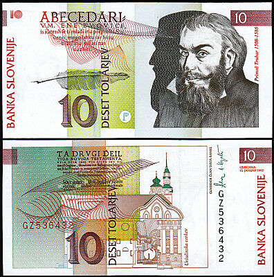 5  TOLARJEV 1990 P 3 Uncirculated  LOT  2  PCS SLOVENIA