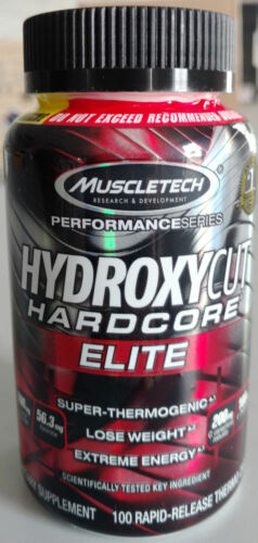 MuscleTech-Hydroxycut-Hardcore-Elite-100-Caps-FREE-Expedited-Shipping-New