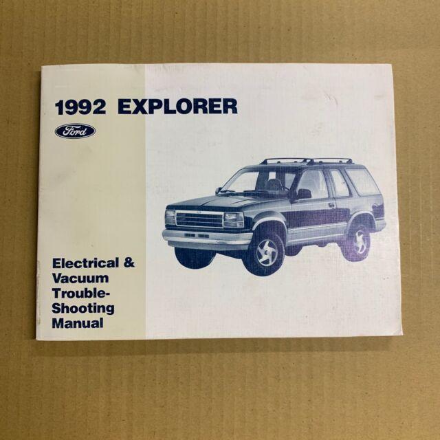 1992 Ford Explorer Electrical Wiring Vacuum Diagram Manual
