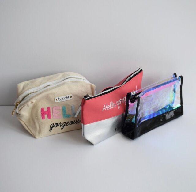 New BENEFIT Cosmetic/ Makeup Travel Bags Bundle Of 3 | eBay