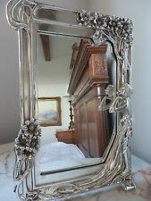 """SILVER 'ART NOUVEAU """"stile specchio per tavolo da toeletta Top"""