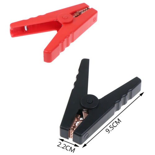 JE 2x Large 100A Crocodile Alligator Clips Car Battery Chargers Insulated Cla