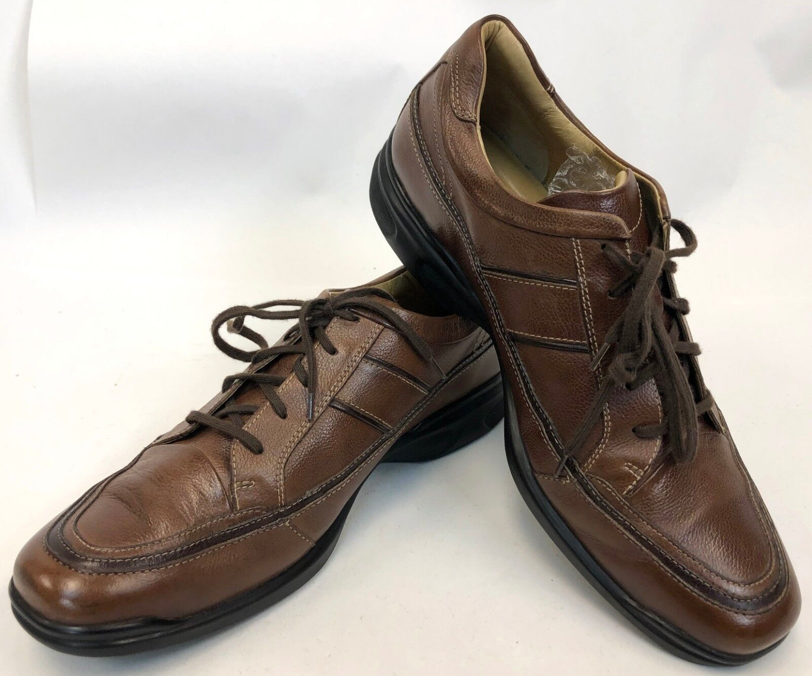 Mens Sheepskin Johnston Murphy Lace Up Casual Comfort Sneakers shoes 10 M