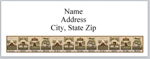 30 Personalized Address Labels Primitive Country Buy 3 get 1 free P 355